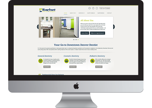 Riverfront Dental Designs' website