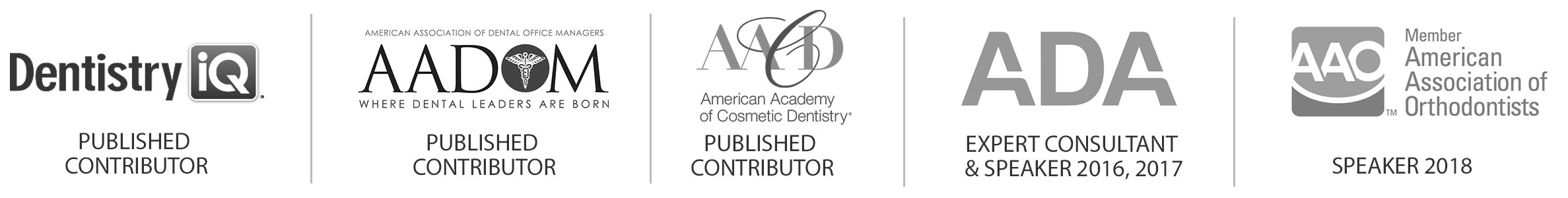 dental awards and accreditation