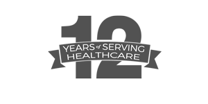 12 Years of Serving Healthcare Logo