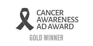 Cancer Awareness Ad Award Gold Winner Logo