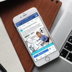 Avitus Dental Facebook Ad on a Mobile Device