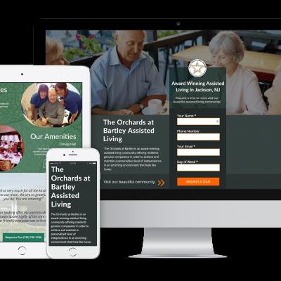 Bartley Healthcare Landing Page Mockup