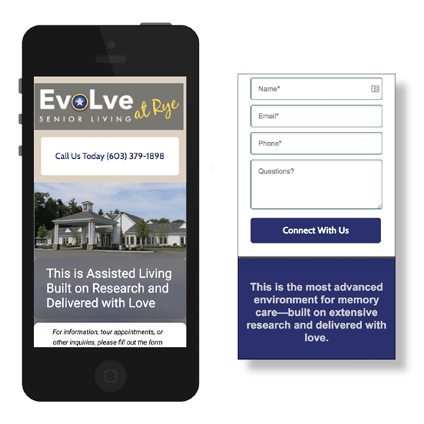 EvoLve at Rye Mobile Form