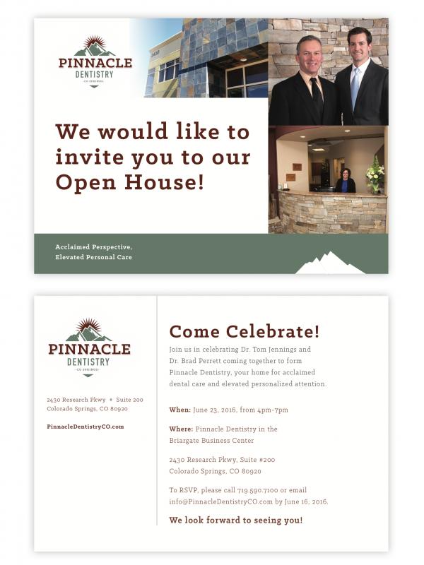 Pinnacle Dentistry Open House Invitation