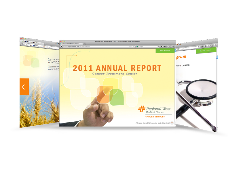 Regional West Medical Center 2011 Annual Report Screen Mockup