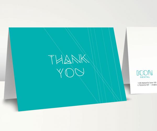 Icon Dental Thank You Card