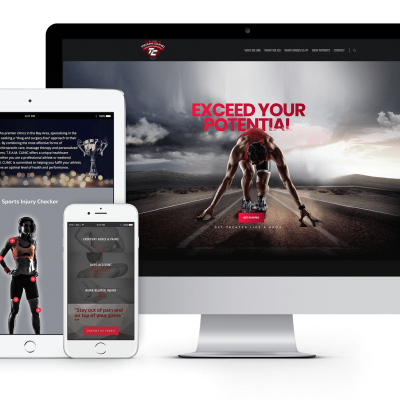 T.E.A.M. Clinic Website on Multiple Devices