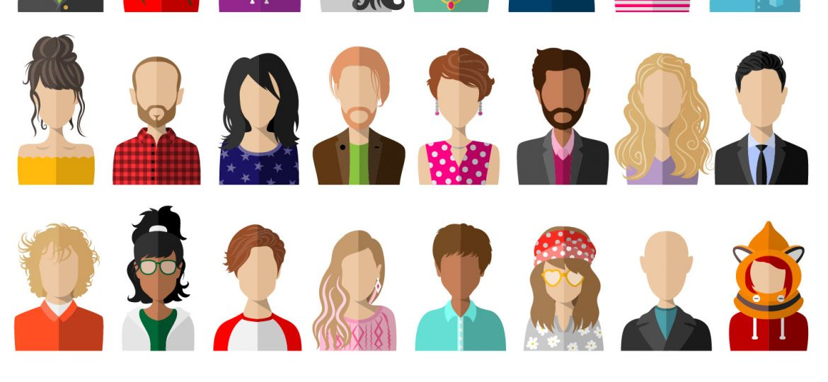 Diverse Human Illustration Graphic
