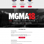 MGMA Annual Conference 2018 Event Website