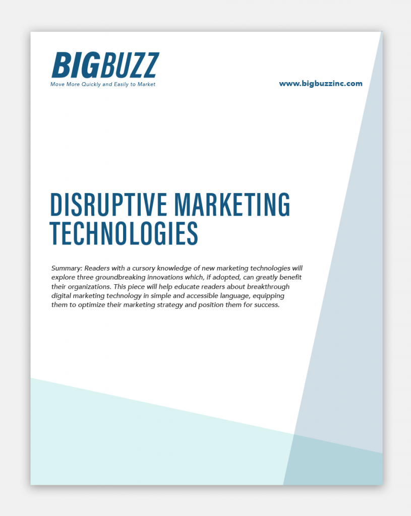 Big Buzz Disruptive Marketing Technologies Graphic