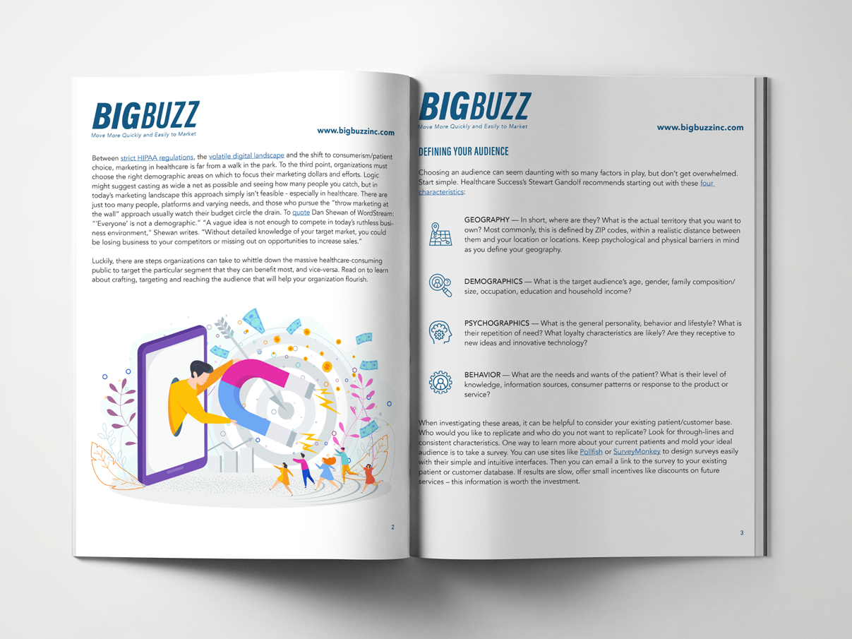 Big Buzz Reaching and Targeting the Right Audience Mockup