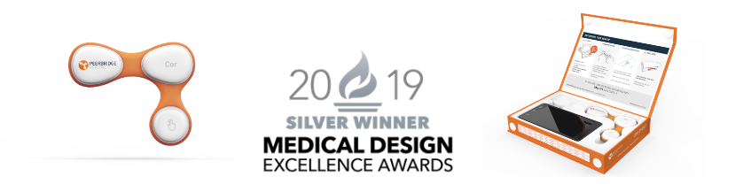 2019 Medical Design Excellence Awards Silver Winner Graphic