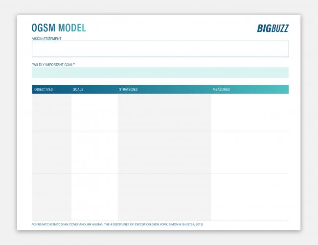 Big Buzz OGSM Model
